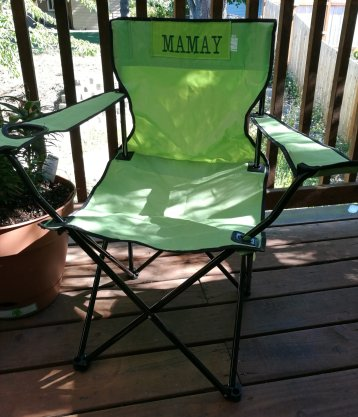 Embroidered Camp Chair