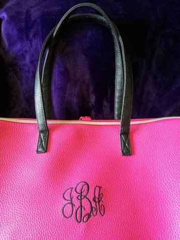 Monogram on Leather Bag
