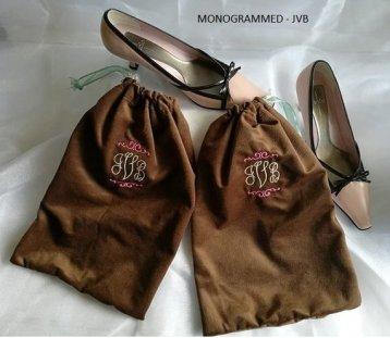 Monogrammed Shoe Bags